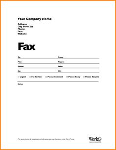 Fax Cover Template Word Fax Templates  Template