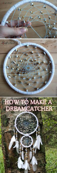 dream catcher NEW! Dreamcatcher DIY tutorial, step to step indian dreamcatcher . Fun Crafts, Diy And Crafts, Arts And Crafts, Crafts To Make And Sell Ideas, Diy Projects To Sell, Clay Crafts, Los Dreamcatchers, Crochet Dreamcatcher, Creation Deco
