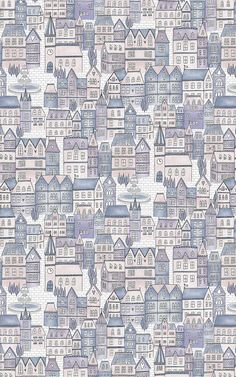 Style a charming space for your little one inspired by their favourite fairytale stories with this Fairytale Castle Princess Theme Wallpaper Mural. Featuring a cute repeat pattern of a village scene with a church, fountain and cobbled streets, the design will effortlessly inspire your little ones imaginations, placing them inside an enchanting fairytale story in their own bedroom or playroom. Created in-house with detailed hand-drawn illustrations and soft pink, purple and blue tones.