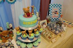 Blue and brown teddy bears Birthday Party Ideas | Photo 1 of 11 | Catch My Party