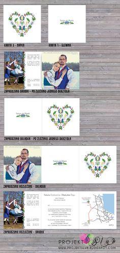 projekt ŚLUB - zaproszenia ślubne, oryginalne, nietypowe dekoracje i dodatki na wesele: zielony