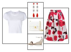 """""""Outfit # 3211"""" by miriam83 ❤ liked on Polyvore featuring Chanel, Tabitha Simmons and RE/DONE"""