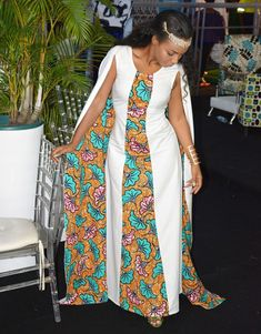 Long african cape dress / african wedding dress with cape /African clothing for women / long African Ankara Print Dresses For Wome African Print Wedding Dress, African Print Dresses, African Print Fashion, African Dress, African Attire, African Wear, African Outfits, Trendy Fashion, Fashion Outfits