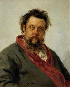 'Portret van de componist Modest Moessorgski', 1881 / Ilja Repin (1844-1930) / Tretjakovgalerij, Moskou, Rusland.