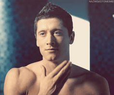 robert lewandowski like damn. he is very handsome and cute at the same time. I want him.