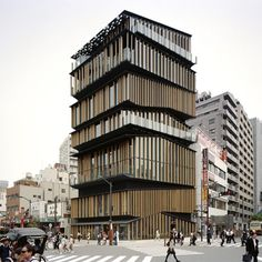 Another fun stacked building: Asakusa Culture Tourist Information Center by Kengo Kuma & Associates