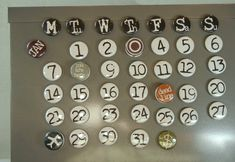 perpetual calendar -- custom made -- one inch magnets Magnetic Calendar, One Inch, Classroom Projects, Perpetual Calendar, Calendar Design, Novelty Items, Plastic Beads, Etsy Uk, Jaba