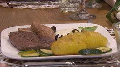 Rezept: Holzeröder Filetteller an der frühen Annabell mit Zucchini-Gemüse und Sauerrahmdip