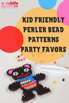 Perler bead patterns are the latest kid-friendly craft that is fun and easy to make. A Subtle Revelry lists several ideas - all children-themed - easy-to-follow patterns that when completed will put a smile on every child's face. The easy step-by-step instructions mean parents can join in on the fun and children love it when that happens. The patterns are quite different from each other so each one will be quite distinct from the others. Get the details. #perlerbead #partyfavors #perlerkids
