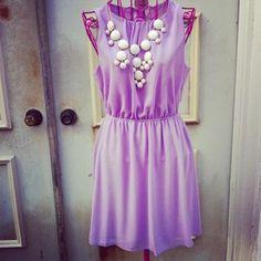 Beautiful lavender dress.