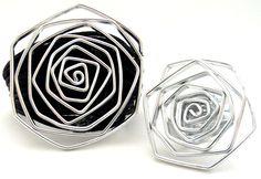Patricia Moura Biojoias- Bracelete e anel em alumínio