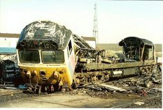 An utterly ruined 50032 (ex D432) 'Courageous' at Old Oak Common in Feb 1991, compliments of Cooper's Metals Ltd. (M.Humberstone) -- England