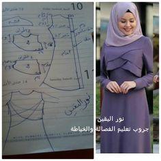 Best 12 Shabllona per te mbulume – Page 376261743865379898 – SkillOfKing. Abaya Fashion, Muslim Fashion, Blouse Patterns, Sewing Patterns, Abaya Pattern, Diy Scarf, Dress Making Patterns, Muslim Dress, Feminine Dress