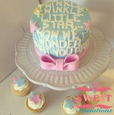 Gender reveal cake Facebook.com/NapasSweetSensations