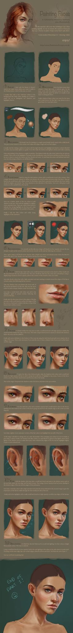 Digital face / portrait painting tutorial part 1 by me-illuminated.deviantart.com on @deviantART