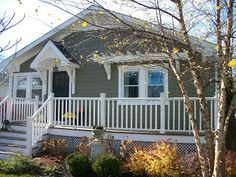 Sixty-Fifth Avenue: Craftsman style cottage - uncovered front porch with portico and trellis