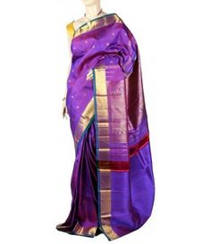 Purple Molakalmuru Handloom Pure Silk Saree