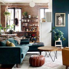 Brooklyn Apartment, Studio Apartment, Apartment Therapy, Apartment Ideas, Bedroom Loft, Bedroom Decor, Australian Interior Design, Loft Studio, New Orleans Homes