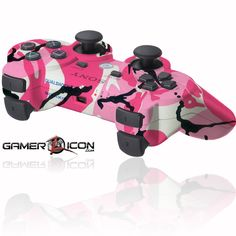 PS3 Controller | PS3 Modded Controller Pink Camo | Gamerzicon.com - Your Leader for PS3 ...