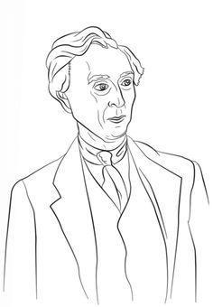 Bertrand Russell Coloring Page
