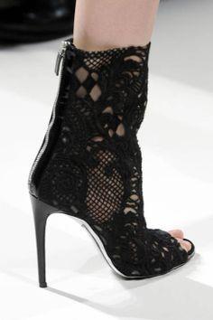 Balmain S13 cutout ankle boots
