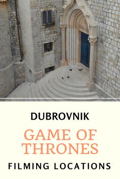 Dubrovnik, Croatia: You don't need to join a tour to visit the filming locations of Game of Thrones. Just check out this post for tips and ideas and how to spend the day in the city while at the same time exploring the most familiar scenes of GoT. #gameofthrones #filminglocations #filmset #croatia