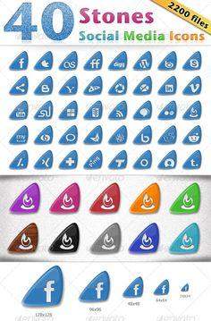 40 Stones Social Media Icons