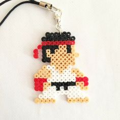 Ryu Street Fighter perler beads by pixel_empire