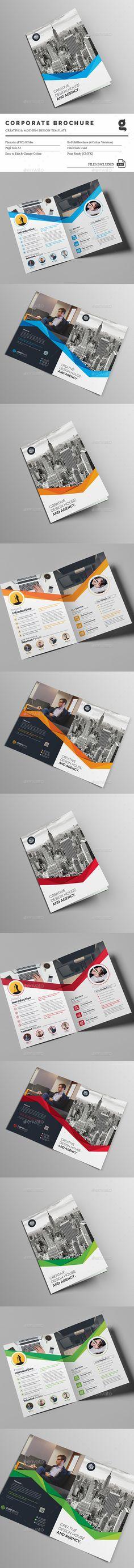 Bi-Fold Business Brochure Template PSD. Download here: http://graphicriver.net/item/bifold-business-brochure/14596292?ref=ksioks