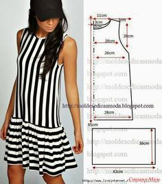 49 Ideas for sewing clothes diy dress inspiration Fashion Sewing, Diy Fashion, Ideias Fashion, Dress Sewing Patterns, Clothing Patterns, Pattern Sewing, Free Pattern, Easy Dress Pattern, Diy Clothing