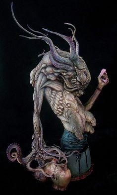 Artist Proof Studio: Paul Komoda's Nova Express Painted by Rick Cantu! Creature 3d, Creature Concept, Creature Feature, Creature Design, Zbrush, Thy Art Is Murder, Creepy Monster, 3d Figures, Alien Art