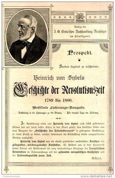 Original-Werbung / PROSPEKT 1897 : 2-Seiter  COTTA /HEINRICH VON SYBEL /GESCHICHTE DER REVOLUTIONSZEIT- ca.…