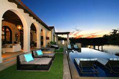 Eclectic Spanish Style Lake House - rustic - pool - austin - Zbranek & Holt Custom Homes