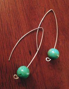 Turquoise Drop Sterling Silver Earrings