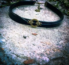 Black leather choker necklace / Skull charm choker necklace/   Etsy Black Leather Choker, Leather Choker Necklace, Skull Necklace, Black Necklace, Handmade Necklaces, Handmade Jewelry, Handmade Leather, Handmade Gifts, Gothic Chokers