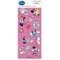 Hallmark 220907 Disney Minnie and Daisy Glitter Sticker Sheets #Disney