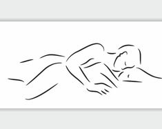 Large line art print. Female and male nude figures in erotic Couple Painting, Couple Art, Couple Drawings, Art Drawings, Man And Woman Silhouette, Line Art Tattoos, Body Sketches, Sexy Tattoos For Girls, Guy Drawing