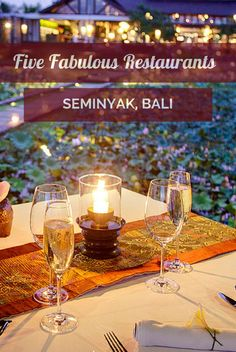 A round up of five of the best restaurants in Seminyak, Bali.