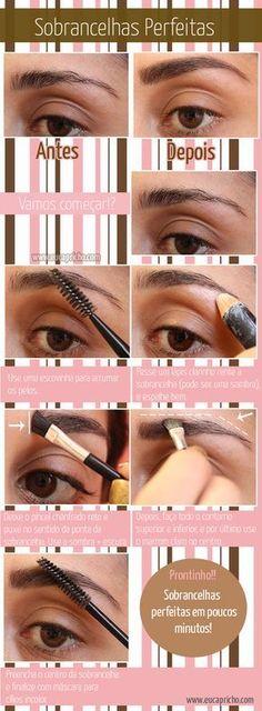 Como ter sobrancelhas perfeitas - vejas dicas para cuidar das sobrancelhas em casa e ficar com elas bem desenhas e bonitas.