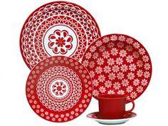 Aparelho de Jantar Chá 20 Peças Oxford - Cerâmica Redondo Floreal Renda com as melhores condições você encontra no Magazine Jsantos. Confira!