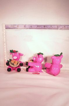 Check out this item in my Etsy shop https://www.etsy.com/uk/listing/477278142/cute-pigs-wearing-holly-at-one-ear-and