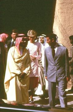 1986-11-18 Diana and Charles visit Fort Masmak in Riyadh, Saudi Arabia