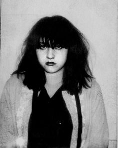 """"""" Lydia Lunch's photobooth passeport pic for Uk/Europe The Agony is the Ecstasy Tour, November 1981."""