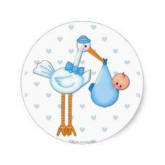 Boy Stork Sticker