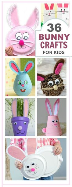 Bunny Crafts for Kids is part of Bunny Rabbit Crafts For Kids - 36 adorable bunny crafts for kids to make (Easter crafts) Easter Activities For Kids, Crafts For Kids To Make, Easter Crafts For Kids, Toddler Crafts, Craft Activities, Preschool Crafts, Easter Crafts For Preschoolers, Rabbit Crafts, Bunny Crafts