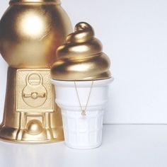 golden soft serve jar by gigglosophy on Etsy, $24.00