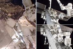 Spacewalkers leave space station for outside chores