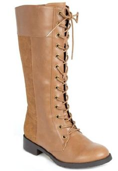 Nessie Tall Wide-Calf Lace Up Flat Boot, http://www.amazon.com/dp/B00955NBX4/ref=cm_sw_r_pi_awd_9Xdxsb1WT9SE5