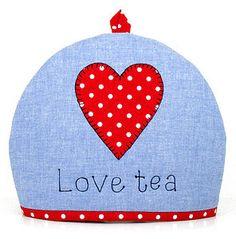 'Love Tea' Heart Tea Cosy - kitchen accessories