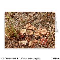 FLORIDA MUSHROOMS Greeting Card
